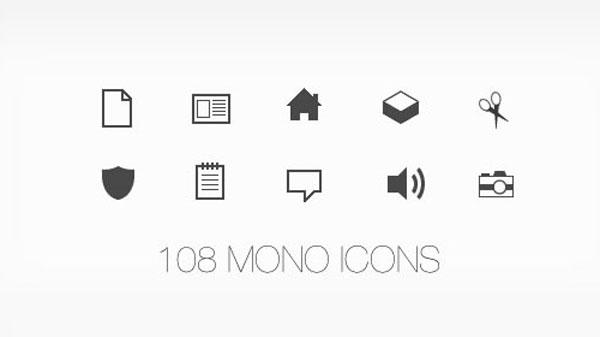 108 Mono Icons Huge Set Of Minimal Icons Tutorialchip