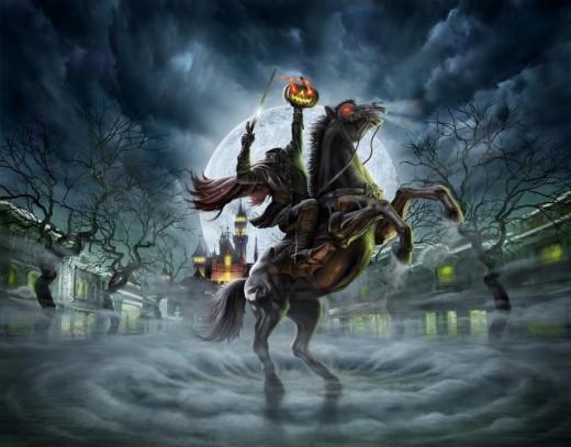 haunted halloween wallpaper