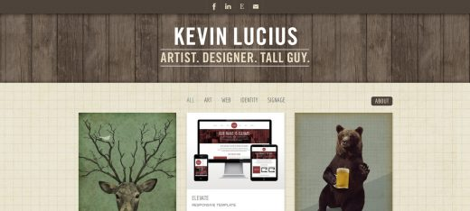 Kevin Lucius - best and creative personal websites