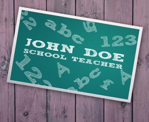 Business Card For Teacher