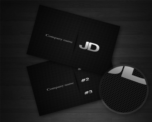 Carbon Business Card Template