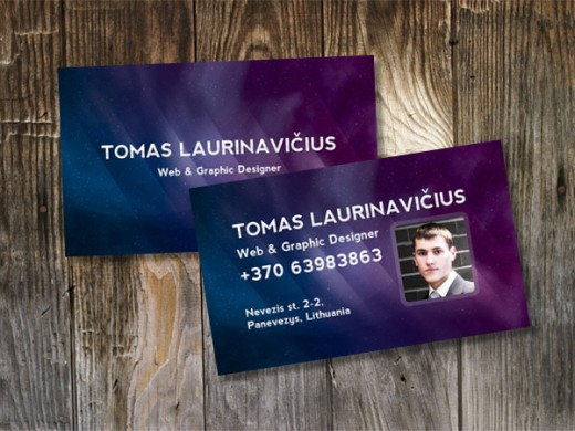 Themed Photoshop Business Card