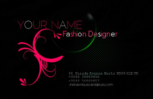 Fashion Business Cards Designs