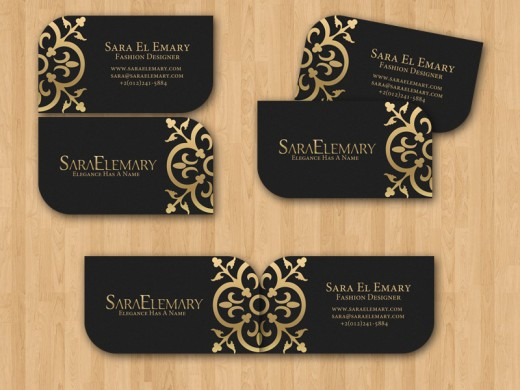 Stylish Fashion Business Cards Designs
