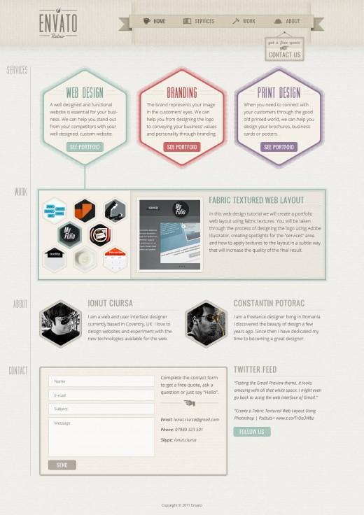 Photoshop tutorials: retro web design | think design.