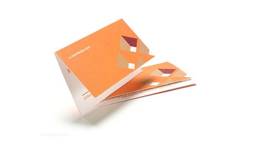 Offset Fold Business Card