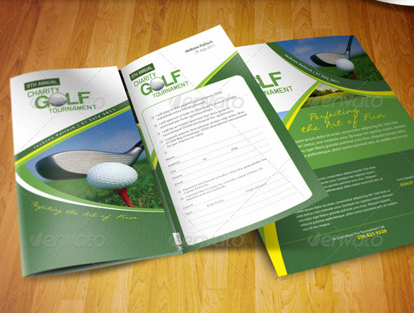 Golf Tournament Brochure | Golf Tournament Brochure Tutorialchip