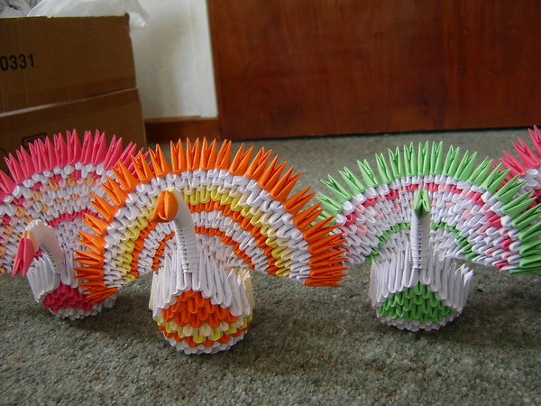3D Origami Peacock | Art Amino | 450x600