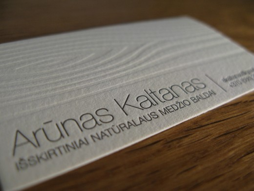 business card with wooden texture - Textured Business Cards