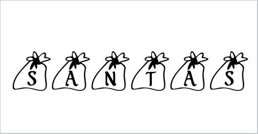 KR Santas Bag Font