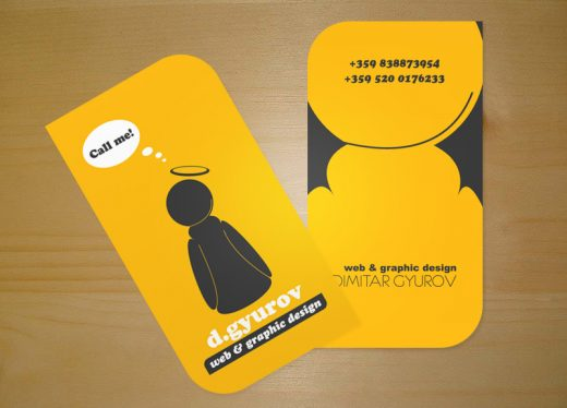 Yellow Business Card Pictures