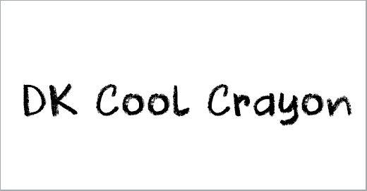 DK Cool Crayon Font