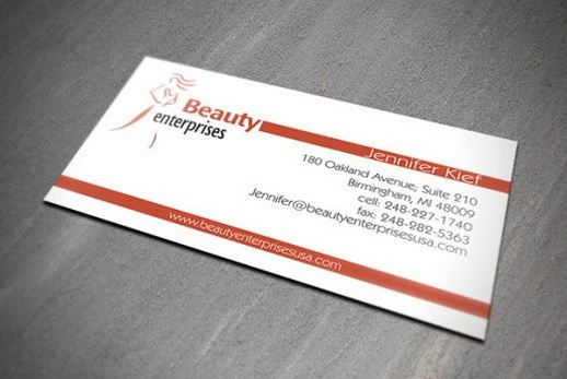 Beauty Enterprises Business Card